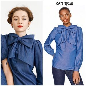Kate Spade chambray bow blouse 2